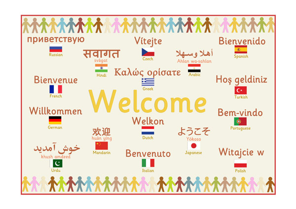 how to say welcome to the clinic in german